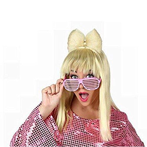 yifutang Haar Perücke Pop Star Blondine mit Fliege Perücke GaGa Fancy Dress Zubehör