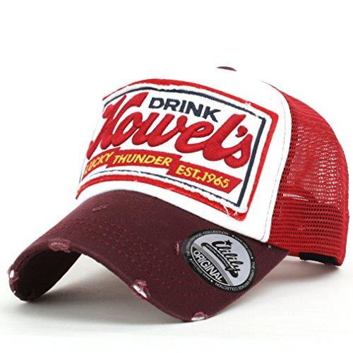 ililily Howel's Distressed Vintage Baseball Mesh Cap Trucker Hat (Mlb-mesh-visor)