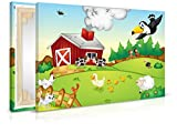 XXL-Tapeten Leinwandbild Bauernhof - Fertig Aufgespannt - Gemälde, Kunstdruck, Wandbild, Keilrahmen, Bild auf Leinwand von Trendwände - Format: 60x40cm, Standard: Polyester-Leinwand 2cm Rahmen