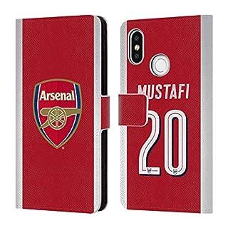 Head Case Designs Offizielle Arsenal FC Shkodran Mustafi 2017/18 Spieler Home Kit Gruppe 1 Brieftasche Handyhülle aus Leder für Xiaomi Mi 8