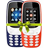 I KALL 4.57 Cm (1.8 Inch) Mobile Phone Combo - K3310 (Dark Blue& Red) With Feature Of Currency Detector
