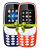 #6: I KALL 4.57 cm (1.8 Inch) Mobile Phone Combo - K3310 (Dark Blue& Red) With feature of currency detector