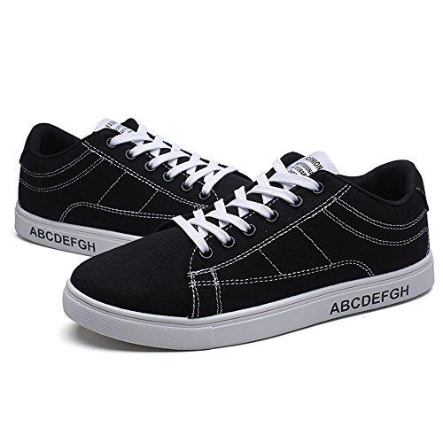 Chaussures Décontractées Pour Hommes Match Étudiants Chaussures Espadrilles Noir Et Blanc