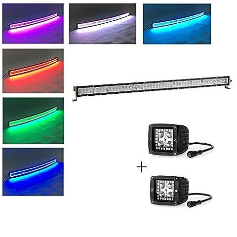 Colorbarz® 500Watt 52zoll Gerade Led Licht Bar Mit RGB halo