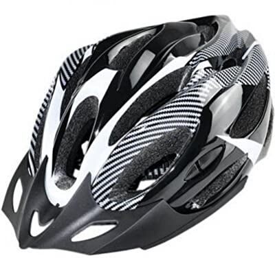 Outdoor Manager UK-Bicycle Cycle Safty Helmet Adult Mens Bike Helmet White Carbon Color With Visor from Outdoor Manager UK