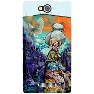 Sony Xperia C Phone Cover -Painted Matte Finish Phone Cover