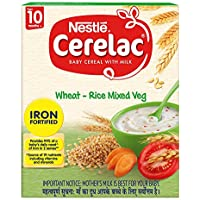 Nestle CERELAC Fortified Baby Cereal with Milk, Wheat-Rice Mixed Veg - From 10 Months, 300g BIB Pack