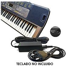 ABC Products® Reemplazo del cable de Casio 9V / 9 Volt DC Adaptador Adaptador Fuente