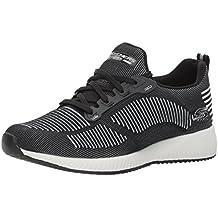 Skechers Bobs Squad-Double Dare, Zapatillas Sin Cordones para Mujer, Gris (Grey/Black), 35 EU