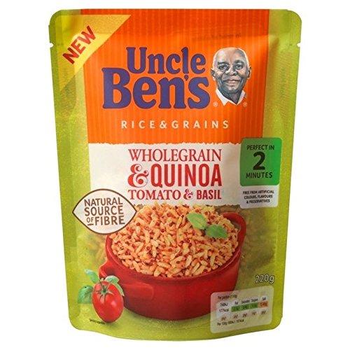 Grains Entiers Et Le Quinoa Tomates Et De Basilic Saveur De 220G De Riz Uncle Ben
