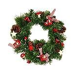 HAAC Deko Kranz Türkranz Tanne Größe 40 cm mit Tannenzapfen Dekobeeren Sterne Schleife Weihnacht