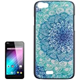 Ethnic Flower Pattern Colored Drawing PC Protective Custodia Case Cover per Wiko Lenny