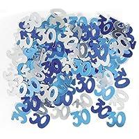 Unique Party - Blu - Coriandoli decorativi per festa di compleanno - 30 anni