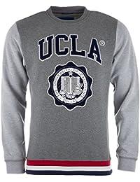 Sweat col rond UCLA Mills pour homme en gris chiné