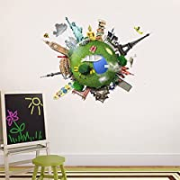 Logobeing Viajes Alrededor del Mundo Wall Expressions Pegatinas de Vinilo Casa Regalo Niños Habitación (C)