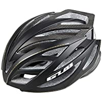 MIRACLEM Fibra De Carbono Mountain Bike Casco/Hombres Y Mujeres Road Integrated Molding Riding Equipment,Black
