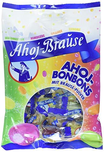 Ahoj-Brause Ahoj-Bonbons Beutel – Ahoj-Bonbons mit Brausefüllung - 4 verschiedene Geschmacksrichtungen: Himbeere, Orange, Zitrone und Waldmeister - 15-er Pack (15 x 150 g)