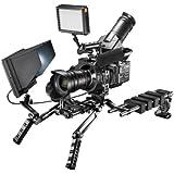 Walimex pro Aptaris Pro-Set Stabilisateur Vidéo Cage Rig pour Appareil photo reflex Sony FS700/100