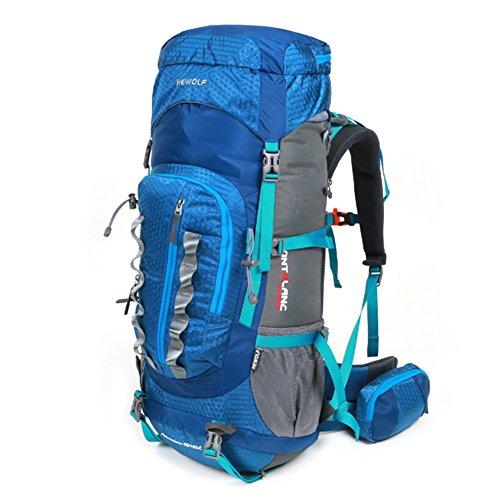 borse alpinismo esterno/zaino da viaggio/Gli uomini e le donne Backpack/Campeggio escursionismo borsa da viaggio impermeabile-blu 55L blu