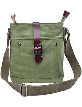 Gootium 40673 Canvas Leather Small Cross Body Bag Shoulder Bag Ipad Bag