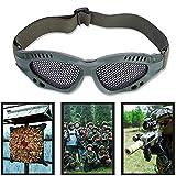 Tbest Airsoft Taktische Schutzbrille Airsoft Mesh Brille Schutz einstellbare Metall Mesh Brille Airsoft Augenschutzbrille mit