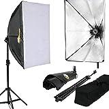Lightfox - Kit d'éclairage - boîte à lumière 60 x 40 cm - softbox avec trépied