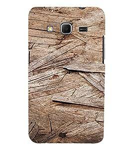 PrintVisa Wooden Design 3D Hard Polycarbonate Designer Back Case Cover for Samsung Galaxy Core Prime G360