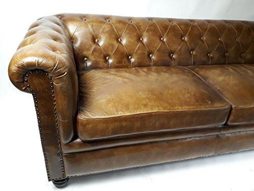 Vintage Sofa Chesterfield Leder 2-Sitzer