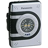Panasonic RQ-V75E-S tragbarer Kassettenspieler mit Radio silber