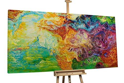 'Fantasia' 200x100cm | Abstrakt Bunt Fantasy XXL | Modernes Kunst Ölbild