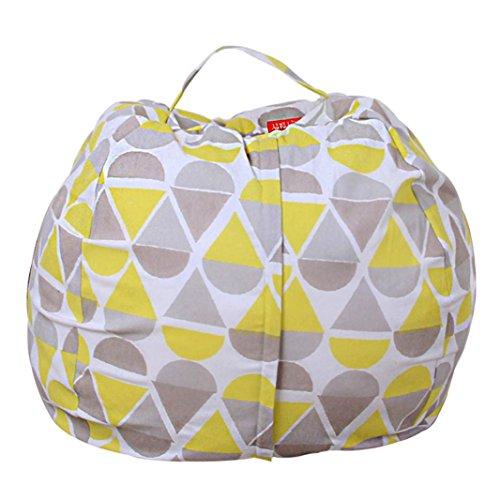 Stofftier Kuscheltiere Aufbewahrung Aufbewahrungstasche Sitzsack Kinder Soft Pouch Stoff Stuhl (One Size, A)