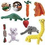 Seilspielzeug für Hunde Welpen, Spieltaue, 8 tlg