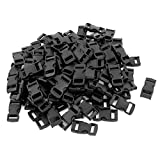 sourcingmap® 100 Stück 10mm Gurtband Riemen Schließe Seite Schnellverschluss Schnalle Schwarz