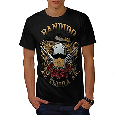 Bandido Tequila Rose Mexiko Gewehr Herren L T-shirt | Wellcoda