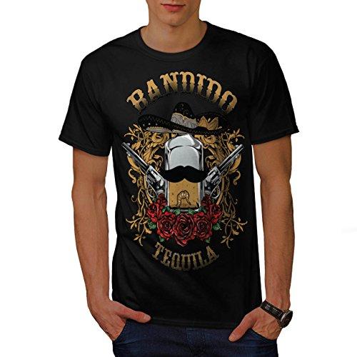 Bandido Tequila Rose Mexiko Gewehr Herren M T-shirt | Wellcoda (Bandido Kostüm)