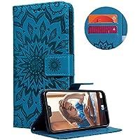 CreWin Huawei P20 Lite Hülle Lederhülle Ledertasche Sonnenblume Mandala Muster Schutzhülle Premium PU Leder Flip... preisvergleich bei billige-tabletten.eu
