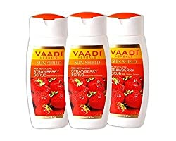 Vaadi Strawberry Scrub Lotion With Walnut Grains (110 ml x 3) FREE SHIPPING