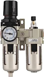 Ac3010 03 3 8 Luftkompressor Aluminiumlegierung Druckluftregler 1mpa Feuchtigkeitsfilter Wasserfilter Inline Filter Baumarkt