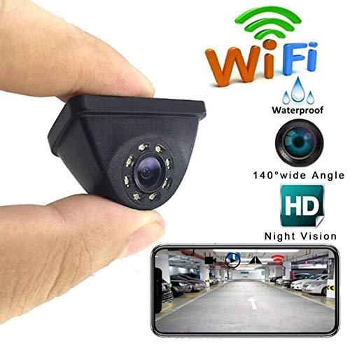 QMKJ Auto Rückfahrkamera WiFi Wireless View Seitenkamera Cam Backup 720P HD Weitwinkel-Nachtsicht Reverse mit Fuction