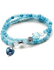 Regalo perfecto Azul Cristal Pulsera De Piedra Regalo Para Las Mujeres Mum Niñas Friend