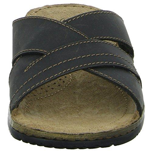 scarbello Y57-Y57-01 Herren Pantolette sportlicher Boden Schwarz (Schwarz)