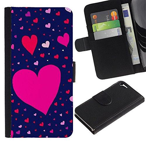 Graphic4You Herz Liebe Romantisch Niedlich Design Brieftasche Leder Hülle Case Schutzhülle für Apple iPhone SE / 5 / 5S Design #7