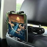 GHB Support Tablette Voiture Universel Appuie-Tête de Voiture 7-10 Pouces à Angle Réglable pour iPad/Samsung Galaxy Tab et d'autres Noir