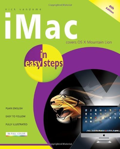 iMac in Easy Steps: Covers OS X Mountain Lion by Vandome, Nick (2012) Paperback