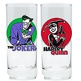 DC Comics–Batman–Lot de 2verres 300ml–The Anima Ted Series–Harley Quinn & Joker