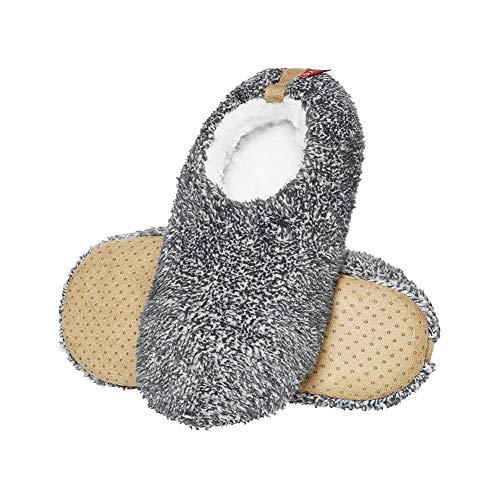 soxo Hausschuhe Herren | Winter Pantoffeln Plüsch mit Rutschfester Sohle | Sehr Weich und Bequem (45-46 EU)