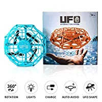 Supkiir Hand Controlled Drone, Mini Drone for Kids or Adults, Easy Indoor Helicopter Toy with 360°Rotating, LED Light, Auto-Sense Obstacles Flying Ball Drone for Boys and Girls...