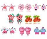 8 Paar Hypoallergen Princess Clip auf Ohrringe Set für Kinder kleine Mädchen