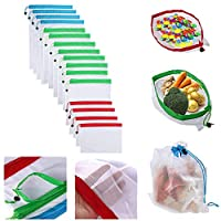 16pcs Reusable Produce Bags Washable Bags Shopping Vegetable Fruit Toys Storage