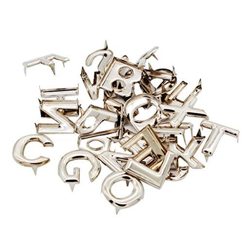 Baoblaze 208 Pcs Buchstaben Metall-Nieten, Pyramiden Bügelnieten Nieten für Kleidung, Taschen, Jeans, Schuhe, Hüte Dekoration